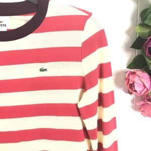 Lacoste Tops - LaCoste pullover striped top
